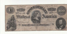 100 DOLLARS VG-FINE BANKNOTE FROM CONFEDERATE STATES/RICHMOND   1864
