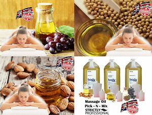Body Back Neck Massage Oil Almond Grapeseed Strictly Professional 50ml 100ml 4L