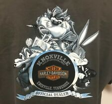 Men's Harley Davidson T-Shirt Gray XL  Knoxville Tennessee Warner Bros