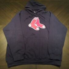 Majestic MLB BOSTON REDSOX Hooded Sweatshirt Men's Fleece Size 2XL