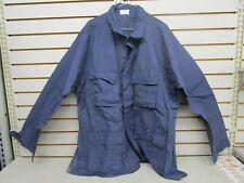 U.S. Military Combat Coat Blue Bdu Shirt Sz X-Large/Long