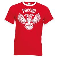 Russia Россия Red/White Ringer T-Shirt - Retro World Cup-2018 Russian Eagle