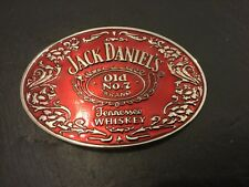 JACK DANIELS New RED OVAL BELT BUCKLE New Metal Pewter Old No 7 Whiskey Whisky