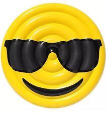 BIG 5FT Emoji Cool Guy Sunglasses Pool Inflatable Float Swimming RIVER Regatta