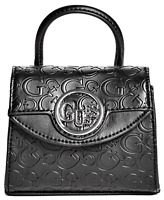 NWT GUESS SKYLAR HANDBAG Mini Black Logo Satchel Crossbody Bag GENUINE