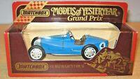Matchbox MOY Y-11 1932 BUGATTI Type 51 'Grand Prix' Car Model MIB Yesteryear