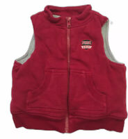 Gymboree Classic Holiday Fire Chief Red Fleece Vest 12-18 mos.