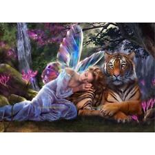 5D DIY Diamond Painting Embroidery Mosaic Cross Stitch Angel Tiger Home Decor