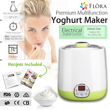 Flora Yogurt Maker 1L Automatic Yoghurt FDA Food Grade Jar Rice Wine DIY Machine