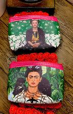 2 Coin Purse classic  Frida Kahlo Brand New  Monederos Nuevos