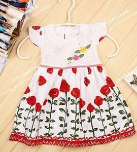 baby girls summer dress 6-24 months cotton LEAFY FLORA holidays dress Uk seller