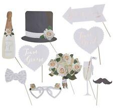 """10 tlg. Photo Booth """"Beautiful Bot"""" Hochzeit Foto Verkleidung Schnurrbart Props"""