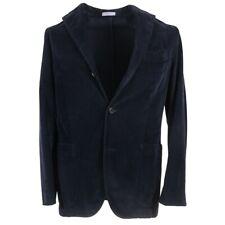 NWT $1845 BOGLIOLI Navy Blue Corduroy Cotton 'K Jacket' Suit 38 R (Eu 48)