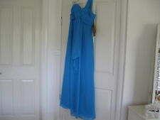 Weddings & Special Occasion  Long Dress Size 10 Ocean Blue No Sleeves Lined.