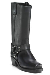 Frye Women's Harness 12R Leather Riding Boot Black Size 8.5 M