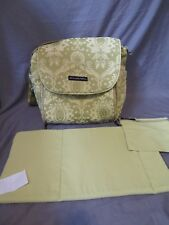 Petunia Pickle Bottom Green Tapestry Backpack Tote Baby Diaper Bag Changing Pad