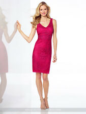 NEW Mon Cheri 117822 RASPBERRY Pink BEADED COCKTAIL DRESS Size 6 Social Occasion