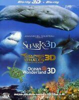Jean-Michel Cousteau Film Trilogy 3D Blu-Ray - Free Shipping - Region Free - NEW