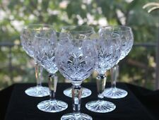 Fine, Cut Crystal Balloon Wine Glasses, (6)