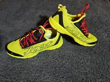 Zoot Mens lightweight running shoes Size 10 US  Lace Up Neon Yellow Red