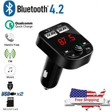 In-Car Handsfree USB Charger Bluetooth FM Transmitter Wireless Radio Adapter Kit