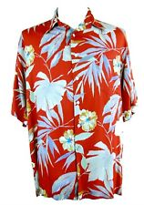 TORI RICHARD LARGE HAWAIIAN ALOHA TROPICAL CAMP S/S BUTTON FRONT SHIRT HONOLULU