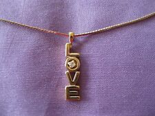 "18"" AVON GOLDTONE LOVE PENDANT NECKLACE"