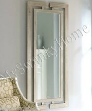Extra Long Contemporary Silver Leaf Wall Mirror Modern Luxury Full Length Wood