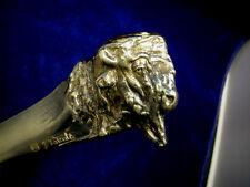 Austrian bronze paper cutter with American buffalo head by J. Valenta c.1910