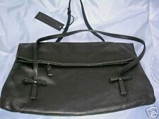 GIANNI CHIARINI BLACK LEATHER PURSE HANDBAG MADE IN ITA