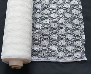 CREAM LACE FABRIC 100% POLYESTER width 114cms great for weddings