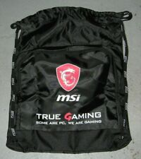 MSI Gaming Laptop Drawstring Bag Travel Back Pack NEW  Accessories