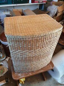 Wicker rope style laundry basket