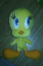 "Looney tunes tweety plush and merry melodies 8"" euc stuffed animal 2000 six flag"