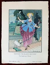 Gazette du Bon Ton Print Pochoir ~ February 1913 No 4 ~ Pierre Brissaud