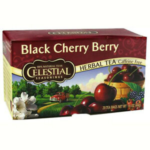 Celestial Seasonings - Black Cherry Berry Herbal Tea Caffeine Free - 20 Tea Bags