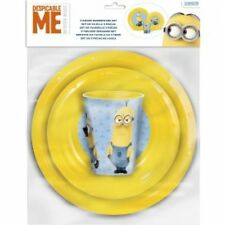 Girls Boys 3 piece Character Tableware Breakfast Dinner Set Plate Bowl Cup