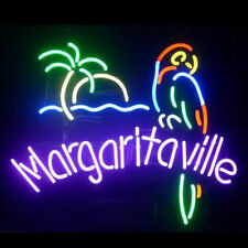 """New Jimmy Buffett Margaritaville Paradise Parrot Beer Bar Neon Light Sign 17""""x14"""