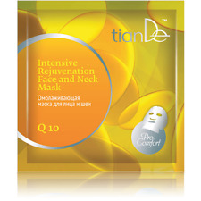 Q10 Anti Ageing Hydrating Intensive Rejuvenating Face and Neck Mask 1pc