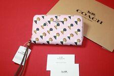 Coach Wristlet Wallet Fits Iphone X Checker Heart Print Multi Color Blush