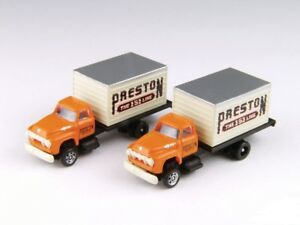 N Scale Classic Metal Works Mini Metals '54 Ford Box Trucks Preston Freight