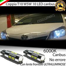COPPIA LUCI DI POSIZIONE 10 LED TOYOTA YARIS MK3 T10 W5W CANBUS 100% NO ERROR