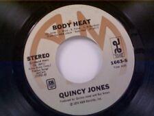 "QUINCY JONES ""BODY HEAT / ONE TRACK MIND"" 45"