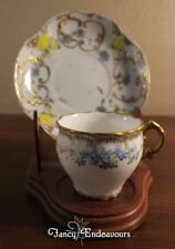 Limoges  France Demitasse Cup and Saucer Forget-Me-Not Flowers