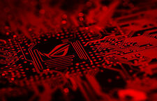 Framed Print - Blood Red Circuit Board (Picture Poster PCB PC Gaming Game Art)