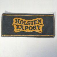 "Vintage Bar Towel Holsten Export 18""x8"" Breweriana Decor"