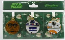 Disney Trading Pins STAR WARS DROIDS CHRISTMAS ORNAMENT Collectible     Set of 3