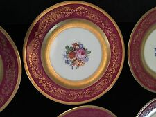 THOMAS BAVARIA GERMANY 6 CHARGER DINNER PLATES EXCELLENT 10 3/4""