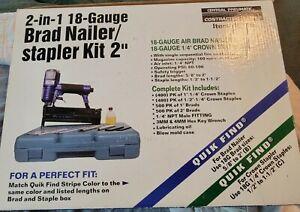 "Central Pneumatic Contractor Series 2-in1 40116 Nailer/Stapler 18 Gauge Kit 2"""