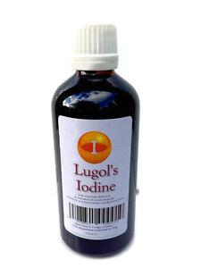 Lugols Iodine 15 % Full Strength Formulation 100ml  Glass bottle